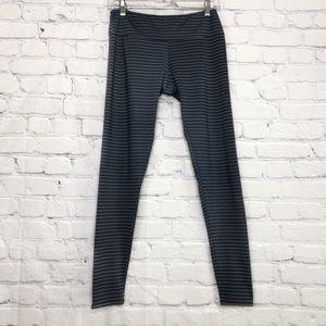 Onzie | Navy Blue Striped Yoga Legging | M/L